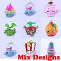 Random Choose Mix Lot 10Pcs/Lot Rhinestone Pendant Fruit Shopping Pendant For Kid DIY Jewelry Pendant For Cartoon Movie