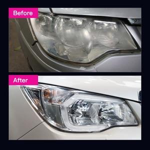 Image 5 - Restaurador de farol de carro 300ml, lâmpada de polimento de farol, lâmpada de limpeza, brilho de lentes, kit de restauração para automóveis 10.5oz