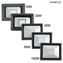 LED Flood Light 10W 20W 30W 50W 100W Floodlight LED Spotlight Outdoor Lighting Projector Reflector Wall Lamp 220V Garden Square(China)