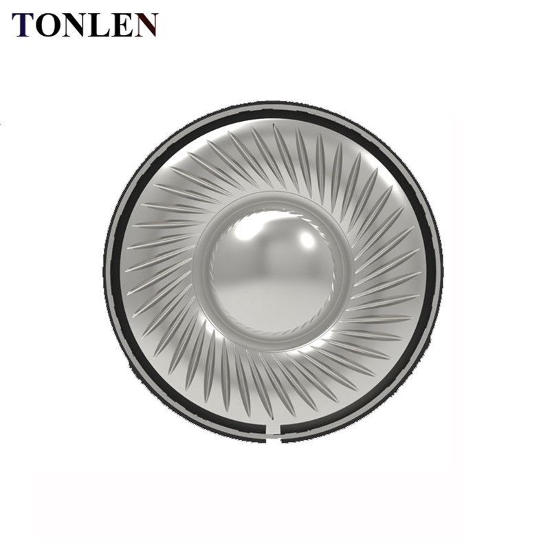 TONLEN 2PCS Difuzor pentru căști de 40 mm, 0.1W, 32 ohm, Coarne, DIY, Căști Bluetooth wireless HIFI, Coarne, Titanium