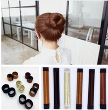 Hair Bun Maker French Dish Made Synthetic Wig Donuts Bud Hair Band Ball French Twist chignon Bun Maker headband Hair Accessories(China)