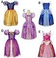 2017 Nuevo Verano Del Bebé Vestidos de Princesa Blancanieves Cenicienta Vestido de Cosplay del Partido Muchachas Del Niño de Traje de Cumpleaños Vestido