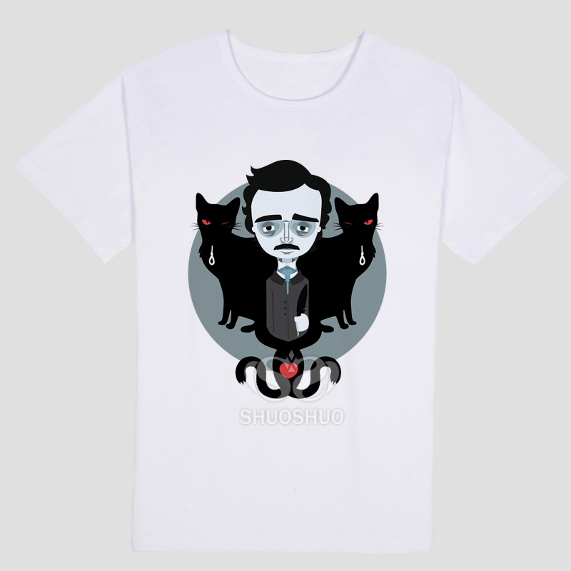 Edgar Allan Poe T Shirt Allen Gothic Book Literary Hp Horror Cool T-Shirts