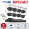 ANNKE 8CH 1080P POE Security Camera System With 8x 2 0Mega Pixels HD Security Network Camera