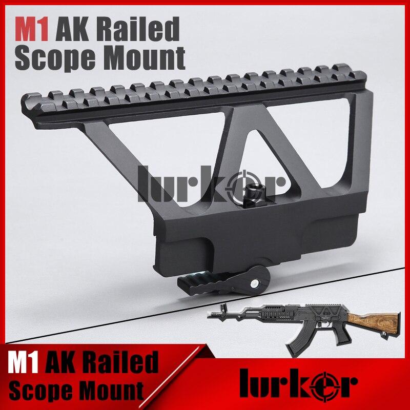 Hunting Quick Detach Ak Gun Rail Scope Mount Base Picatinny Side Rail Mounting For Ak 47 Ak 74