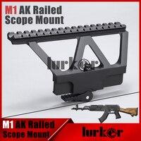 Szybkie Detach AK Pistolet Rail Zakres Góra Baza Montażu na Szynie Picatinny Side Dla AK 47 AK 74 Czarny Tan