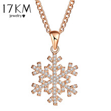 Fashion Flower Snow Long Necklaces For Woman Love Cubic Zirconia Necklaces & Pendants Silver Color Party Jewelry