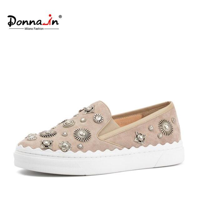Donna-in/женские лоферы из натуральной кожи с шестеренкой, обувь на платформе, женские весенние модные кроссовки без шнуровки, замшевая женская обувь