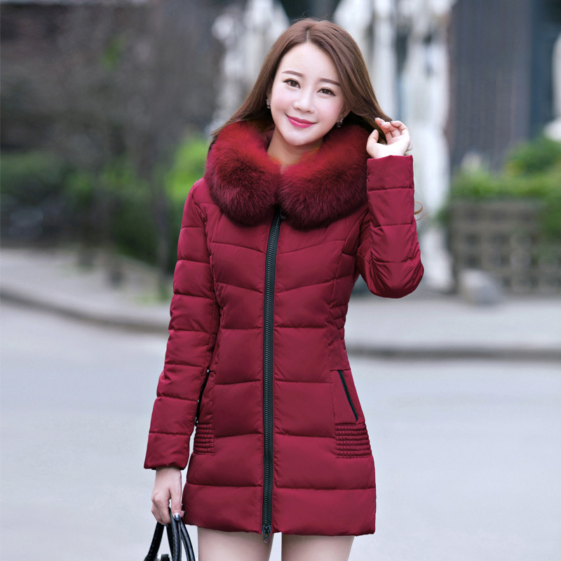 2016 Women Winter Jackets Coats Embroidered Thick Warm Hooded Duck Down Padded Parkas For Women s