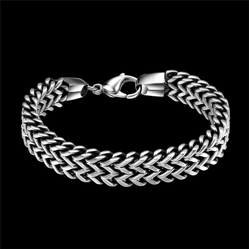 316L Stainless Steel Bracelet Men Luxury Mens Charms Bracelets Vintage Fashion Jewelry Chain Cuban Link Bracelet Male pulseira trustylan shiny glossy 316l stainless steel mens bracelets 2018 20mm wide chain bracelets jewellery accessory man bracelet