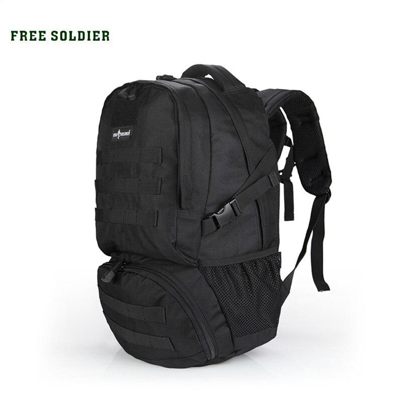 Prix pour Free soldier sports de plein air randonnée camping voyage sac à dos tactique 100% de nylon hommes sac à dos 30l double-épaules sacs