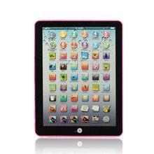 Розовый русский компьютер обучающая машина планшет игрушка подарок для детей обучающие игрушки для детей Dec27