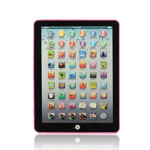 Pink Russian Computer Learning Education Machine Tablet Toy Gift For Kids learning toys for children Dec27(China)