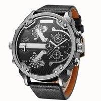 Oulm relogio masculino негабаритных Для мужчин Большой часы Элитный бренд знаменитый уникальный дизайнер кварцевые часы мужской большой часы Для муж...