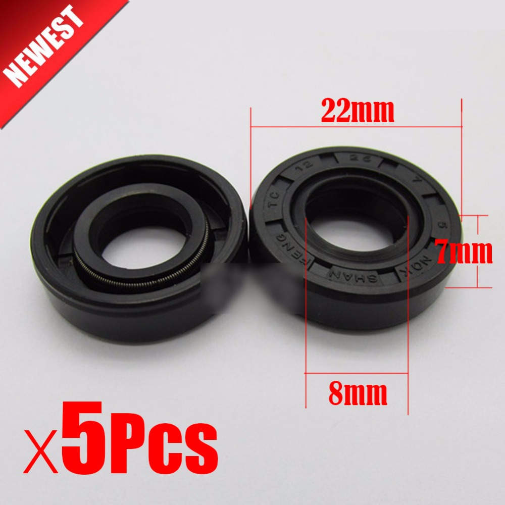 5Pcs 22mm*8mm*7m Wearable Breadmaker Sorbet Machine Blender Accessories Repair Parts Oil Seal Ring For Lg Samsung Philips...