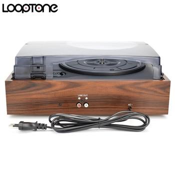 LoopTone 33/45/78 Rpm Vintage Giradischi I Giocatori Per Il Vinile LP Record Phono Lettore 2 Built-In Linea Di Diffusori -out AC110 ~ 130 E 220 ~ 240 V