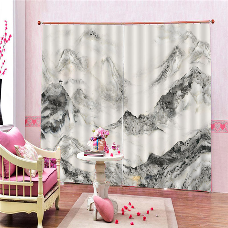 3D Curtain Printing Blockout Polyester Photo Drapes Fabric For Room Bedroom Window MYDING