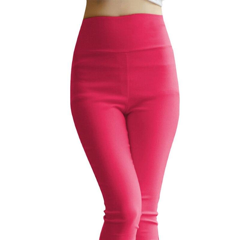 M-5XL Plus Size Heat Setting Cotton Leggings Cintura Alta Candy Color Leggings High-Waisted Leggings BG121
