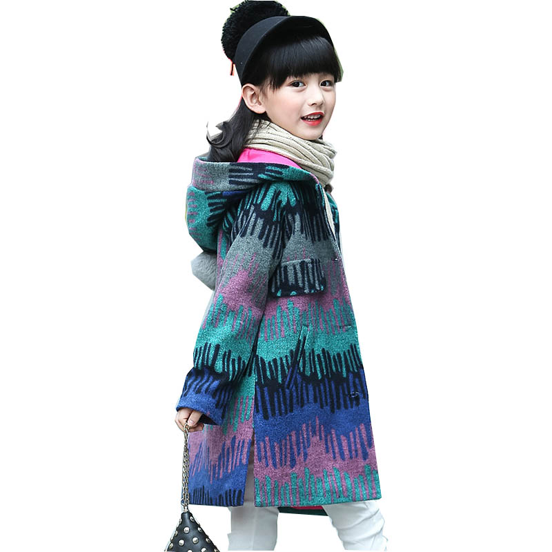 Girls Wool Coats Autumn Girls Clothes Colour Girls Jackets Children Clothing Outerwear 4-13 years Kids Jackets Girls Winter Coat girls jackets and coats 2018 spring autumn jacket for girls children clothes fashion teenage girls outerwear 5 7 9 11 13 years