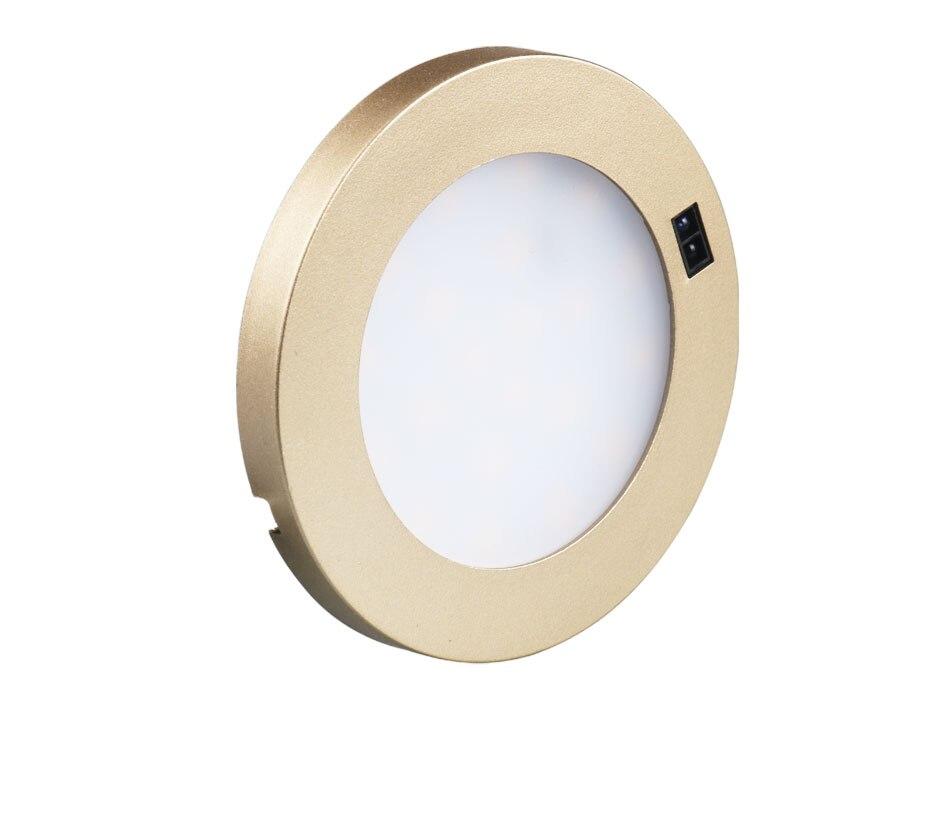 21PCS Under Cabinet Lamps 3W Motion Sensor IR Silver Round LED Puck Counter Led Lights Closet Cupboard Wardrobe Locker Lighting (6)