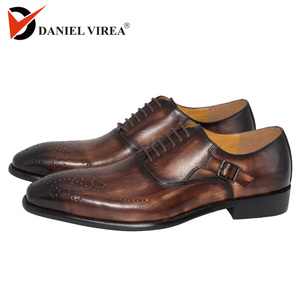 Men Dress Shoes Leather Buckle