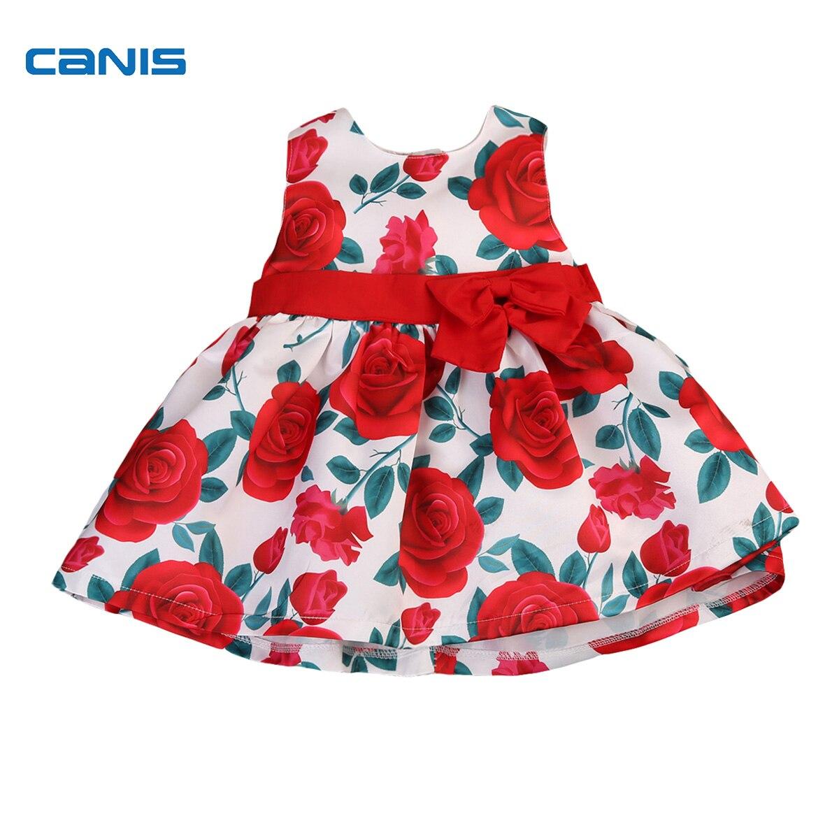 Luxus Kinder Mädchen Rose Blume Kleid Formale Partei Sleeveless Kid ...