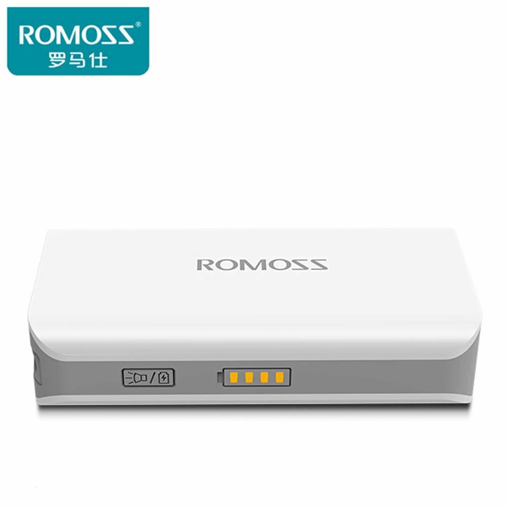 imágenes para Original ROMOSS 5000 SENSE2S sense2s Banco de la Energía 5000 mAh banco de la energía xiaomi banco de la energía de Batería Externa para el iphone 6 s Paquete de la batería