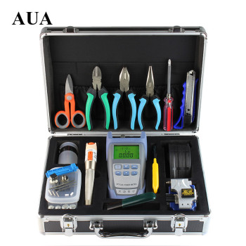 Fiber Optic  Kit Fusion Splicer Tool Sets Visual Fault Locator 10MW Optical Power Meter Fiber Optic Cleaver With Strippers proskit 8pk ma009 200x fiber optic viewing scope kit black transparent