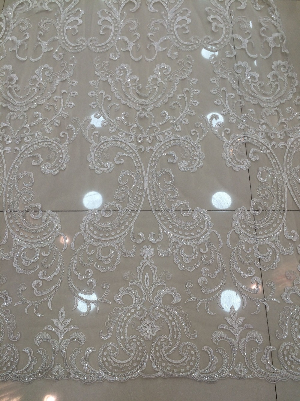 5 Yards Dry lace CGL 110915 with glass beads nigerian Wedding Lace Fabrics top Quality