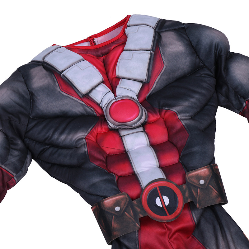 Us 2049 31 Off Kids Halloween Christmas Birthday Gift Cool Deadpool Muscle Cosplay Costume 2018 New Children Superhero Muscle Movie Costumes On