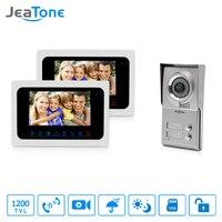 Jeatone 7 HD Monitor Apartment Video Door Phone Video Intercom Doorbell System 1200 TVLine Camera Touch