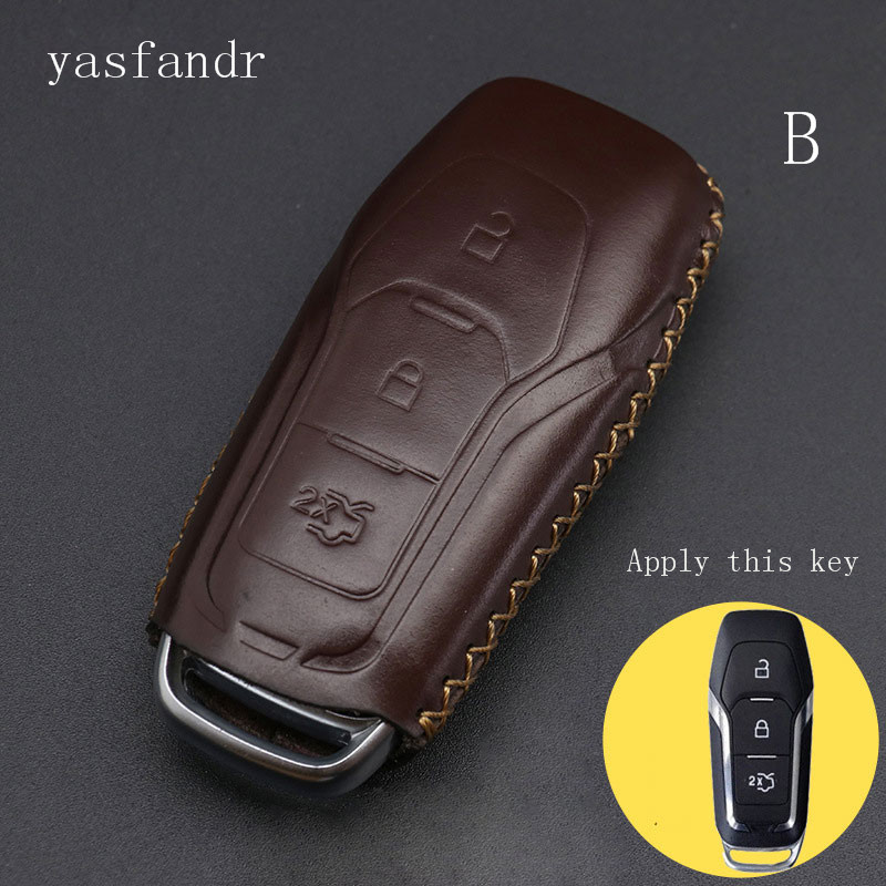 Car Accessories Araba Aksesuar Key Case Cover Car Smart Key For Ford Mondeo 2.0T Kuga Mustang 2015 Edge Remote  Protector Holder