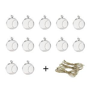 Tealight-Holder Candlestick Globes Hanging Glass Wedding 80MM Terrarium 12pcs