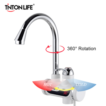 Electric Water Heater Temperature Display Water Heater Kitchen Tankless Instant Hot 3000W 1