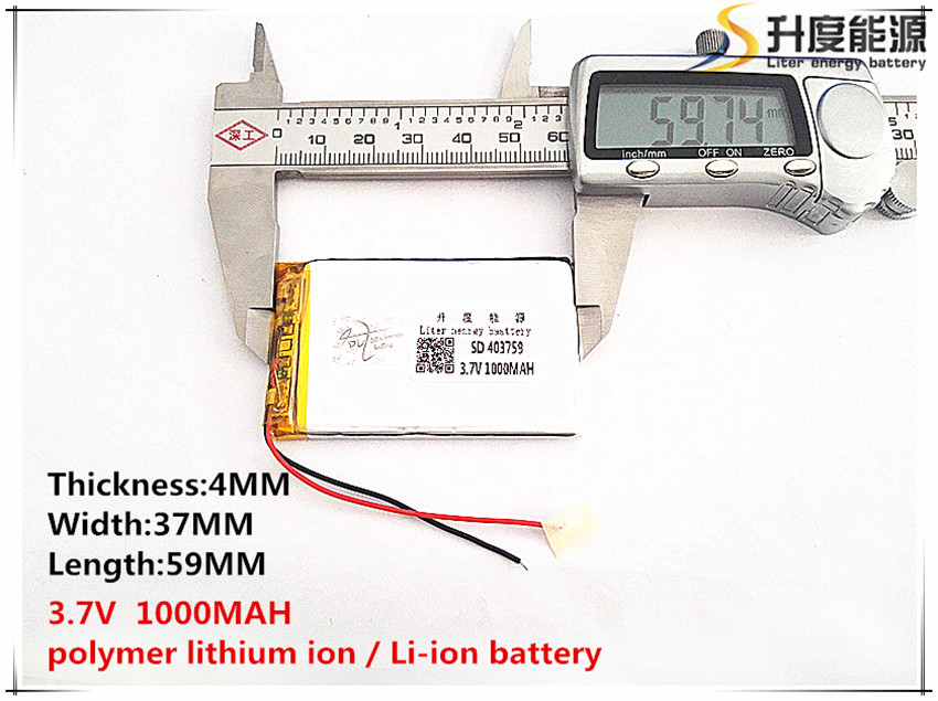 sd 5pcs Polymer Lithium Ion / Li-ion Battery For Toy,power Bank,gps,mp3,mp4,cell Phone,speaker Dependable Performance 403759 3.7v,1000mah,