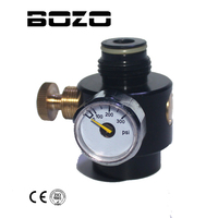 Airsoft PCP Paintball Tank Cylinder Adjustable Compressed Air Regulator Output Pressure 0 300psi 0 825 14NGO