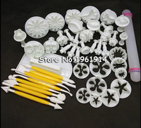 Cake Decorating Fondant Icing Plunger Cutters Mold Gereedschap Cake Decorating Mold Gereedschap 46 Stks