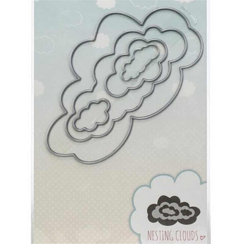 Swovo nuages de nidification matrices de découpe en métal pochoirs bricolage pour Scrapbooking papier carte artisanat gaufrage tampons et matrices découpés