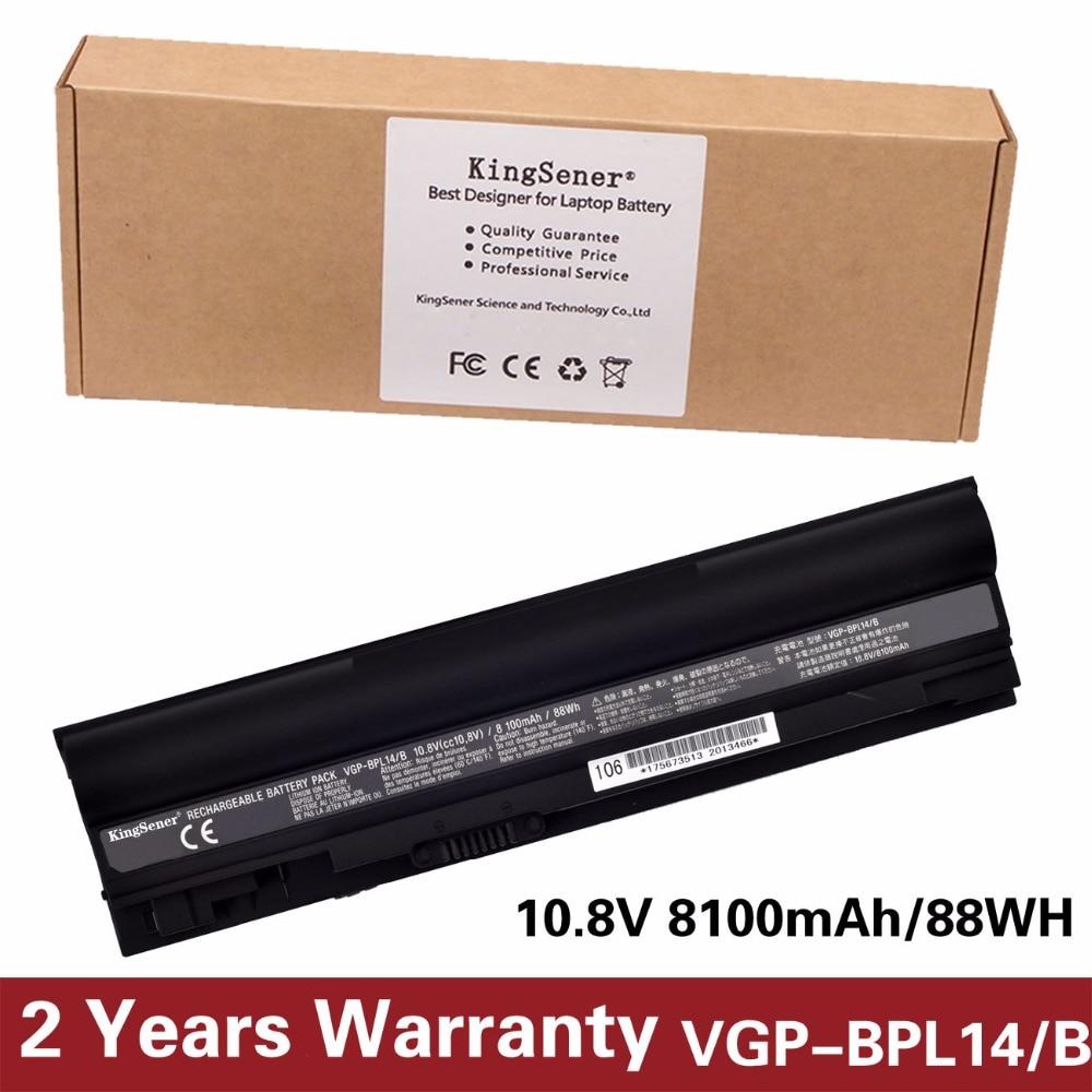 KingSener Japanese Cell New VGP-BPL14 Battery for SONY TT11 TT13 TT23 TT4S1 BPL14 VGP-BPL14/B VGP-BPS14/B VGP-BPS14/S 8100mAh аккумулятор topon top bps14 nocd для 10 8v 5200mah pn vgp bps14b vgp bpl14b