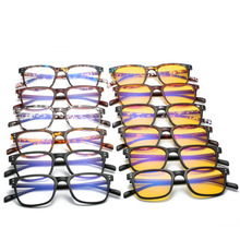 Anti Blue Rays Computer Goggles Reading Glasses UV400 Radiation-resistant Gaming TR90 Square myopia 5025