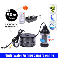 rotatable Underwater Camera For Fishing with 50M Cable 18pcs Leds Fish Finder  Waterproof for Ice/Sea/River Fishing with power