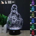 Jehovah 3D Night Light RGB Changeable Mood Lamp LED Light DC 5V USB Decorative Table Lamp Get a free remote control HUI YUAN