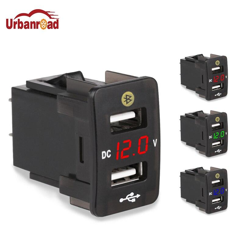 5 V 4.2A Voiture Double USB Prise Chargeur 12 V 24 V LED Affichage voltmètre De Voiture Chargeur GPS Trouver L'emplacement De Stationnement Chargeur De Voiture Pour Honda