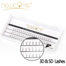 3D&5D Individual Lashes,0.07mm C Curl Korean Silk Eyelash Extension,2 Trays/Lot Lashes Mix Package,Russia Volume Eye Lash