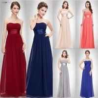 Ever Pretty Evening Dresses HE09955PO Women S Elegant Gorgeous Sexy Strapless Peach Orange Long Evening Dresses