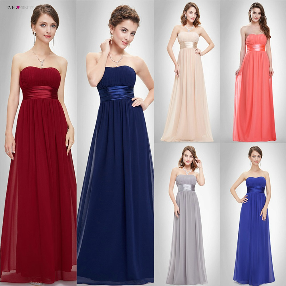 Burgundy   Bridesmaids     Dresses   Ever Pretty EP09955 Elegant Gorgeous Sexy Strapless Peach Long 2019 New Arrival Purple   Bridesmaids
