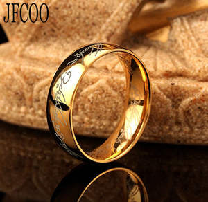 Magic-Ring Jewelry Lord Stainless-Steel Gold Black Silver Personality Women of for The