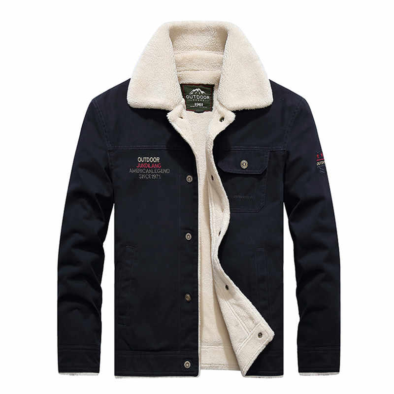 f47e98ad4e Men s winter jacket brand AFS JEEP jacket men military style fleece parka  coat embroidery army tactical