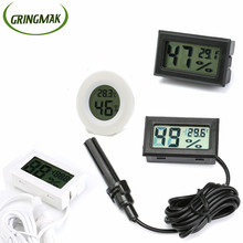 1PCS Digital Mini LCD Car Thermometer Hygrometer Indoor Outdoor Portable Temperature Humidity Sensor Meter Instruments