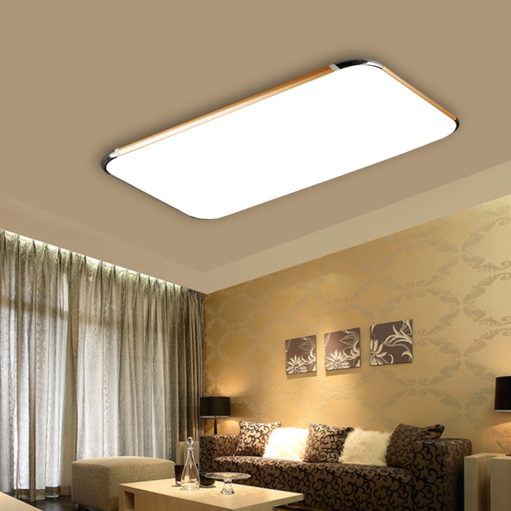 Remote control living room bedroom modern led ceiling for Modern living room ceiling lights